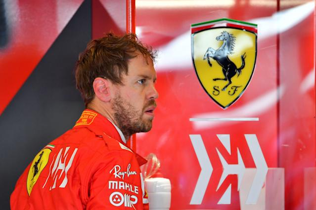 Ferrari's German driver Sebastian Vettel is pictured during the first practice session on November 29, 2019, at the Yas Marina Circuit in Abu Dhabi, two days ahead of the final race of the season. (Photo by Giuseppe CACACE / AFP) (Photo by GIUSEPPE CACACE/AFP via Getty Images)