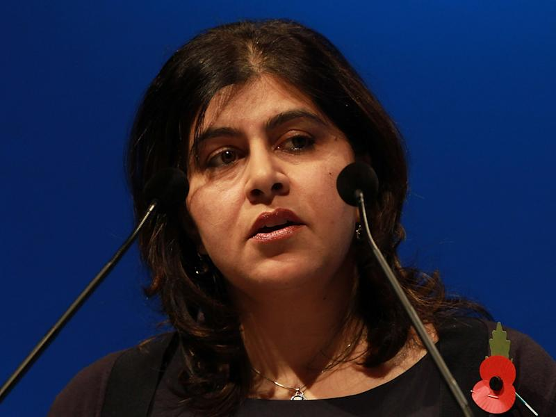 Baroness Warsi speaks during the World Islamic Economic Forum: Getty
