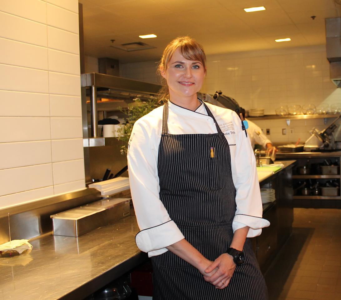 <p>Chef de cuisine Holly Jivin at A Very Bazaar Evening.</p>