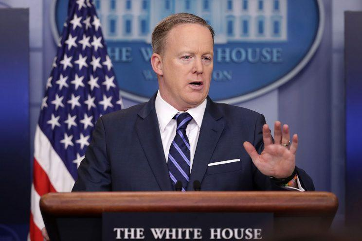 White House press secretary Sean Spicer (Photo: Chip Somodevilla/Getty Images)