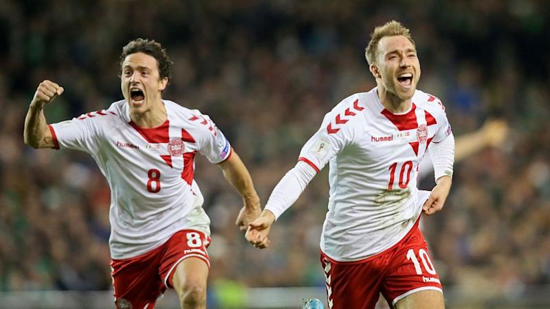 Eriksen was the hat-trick hero for the Danes. Pic: Getty