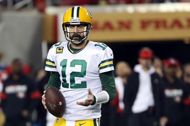 The Packers apparently did everything in their power not to help Aaron Rodgers in the NFL Draft. (Photo by Kiyoshi Mio/Icon Sportswire via Getty Images)