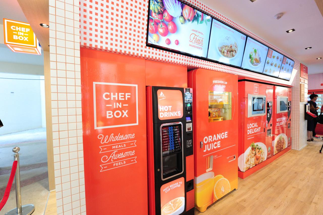 Singapore's first vending machine café opened at Block 320C Anchorvale Drive on Sunday (August 7).  (Photo by: JR Vending)