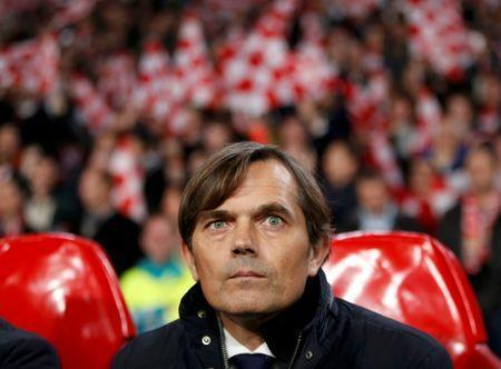 FILE PHOTO: Former PSV Eindhoven coach Phillip Cocu before Champions League match against CSKA Moscow at Philips Stadion, Eindhoven, Netherlands - 08/12/15. REUTERS/Francois Lenoir Picture Supplied by Action Images/File Photo