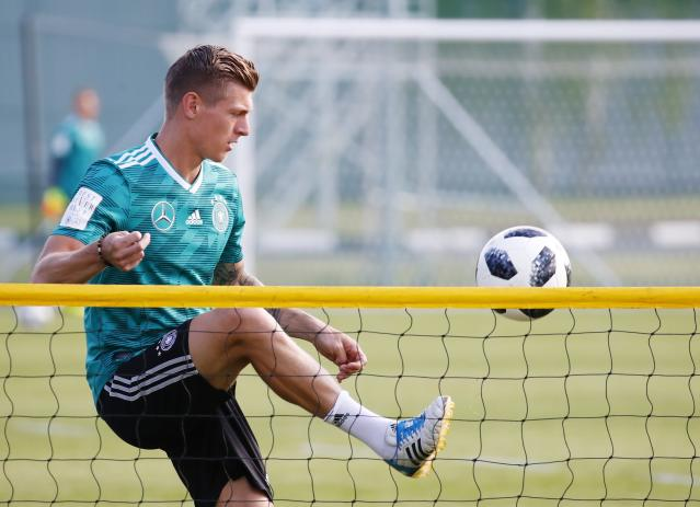 Soccer Football - World Cup - Germany Training - Germany Training Camp, Moscow, Russia - June 25, 2018 Germany's Toni Kroos during training REUTERS/Axel Schmidt