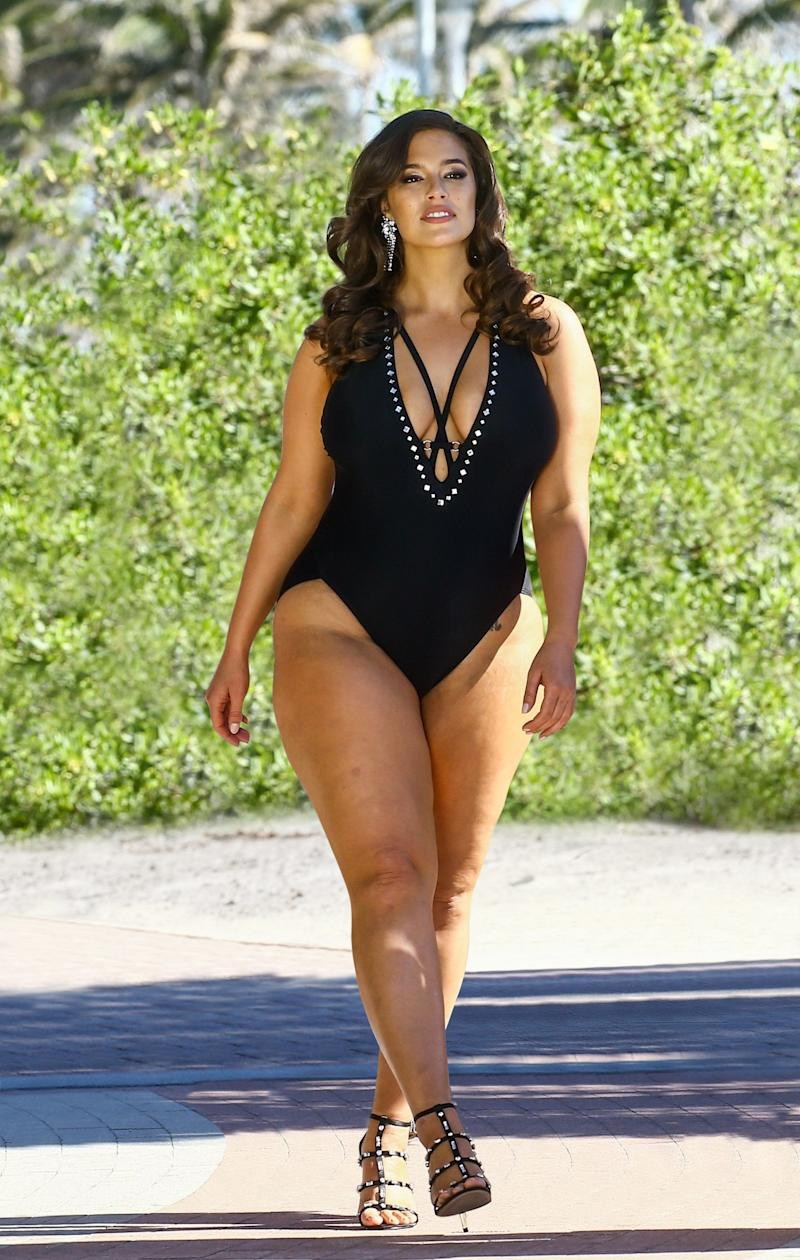 """$120. Get it <a href=""""https://www.swimsuitsforall.com/Ashley-Graham-x-Swimsuits-For-All-Flapper-Swimsuit#rrec=true"""" target=""""_blank"""">here</a>.&nbsp;"""