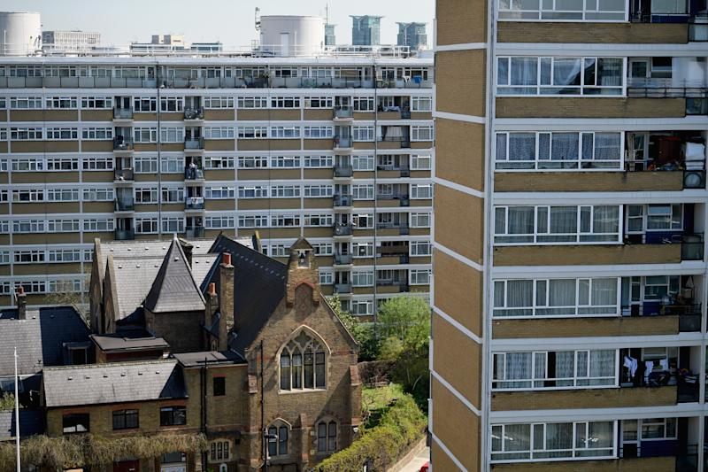 LONDON, ENGLAND - APRIL 19: A general view of flats on the Churchill Gardens Estate in Westminster on April 19, 2018 in London, England. Labour leader Jeremy Corbyn and Mayor of London Sadiq Khan visited Churchill Gardens Estate today to launch the Labour party's Social Housing review and Green Paper consultation which sets out their ambition to build one million affordable homes over a ten year period, including the biggest council housebuilding programme for over 30 years. (Photo by Jeff J Mitchell/Getty Images)