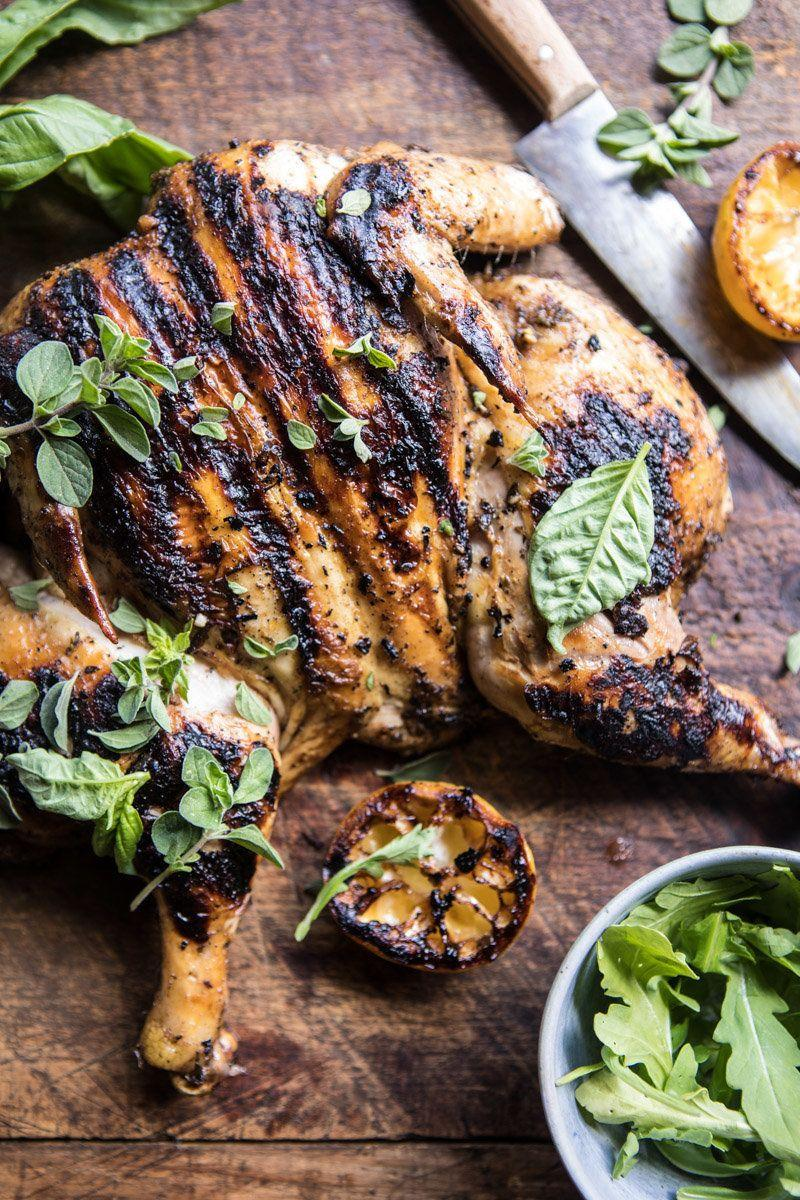 "<strong>Get the <a href=""https://www.halfbakedharvest.com/lemon-and-oregano-grilled-chicken/"" target=""_blank"">Lemon And Oregano Grilled Chicken recipe</a> from Half Baked Harvest</strong>"