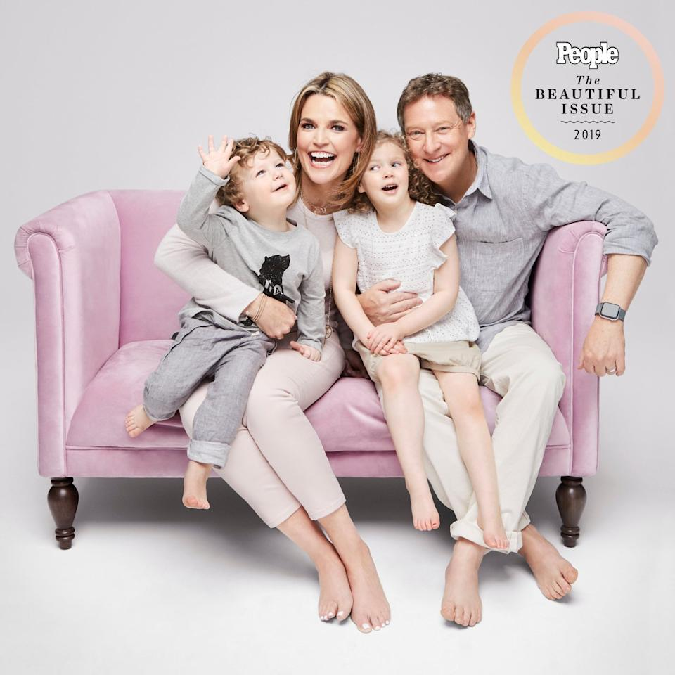 """Savannah kicked off the <a rel=""""nofollow"""" href=""""https://people.com/parents/carson-daly-jokes-about-today-show-baby-making-juice-jenna-bush-hager-dylan-dreyer/""""><em>Today Show </em>baby boom </a>when she welcomed Vale in 2014, followed by Charley in 2016, with husband Mike Feldman. And she says she feels fortunate to have had her daughters in her 40s, when she felt """"calm"""" enough to handle parenthood. """"Now, I can really take my time and enjoy our kids,"""" <a rel=""""nofollow"""" href=""""https://people.com/parents/savannah-guthrie-becoming-mom-later-in-life/"""">she says</a>. """"We feel so lucky to have each other."""""""