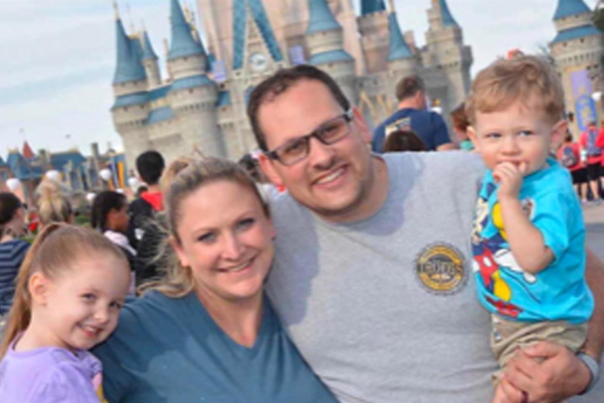 Lauren Riccotone with her kids and husband Chris at Disney. (Photo courtesy of Lauren Riccotone)