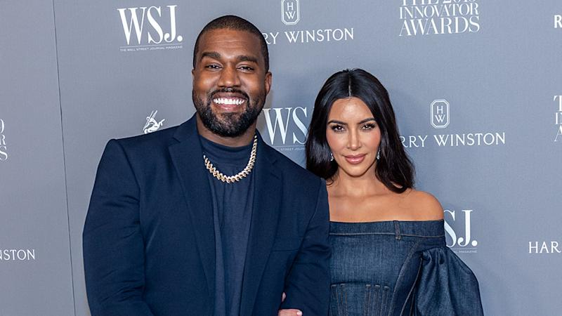 NEW YORK, NEW YORK - NOVEMBER 06: Kanye West and Kim Kardashian attend the WSJ Mag 2019 Innovator Awards at The Museum of Modern Art on November 06, 2019 in New York City. (Photo by Mark Sagliocco/WireImage)
