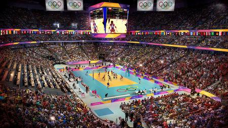 Volleyball at the Honda Center.    Courtesy LA 2024/via REUTERS