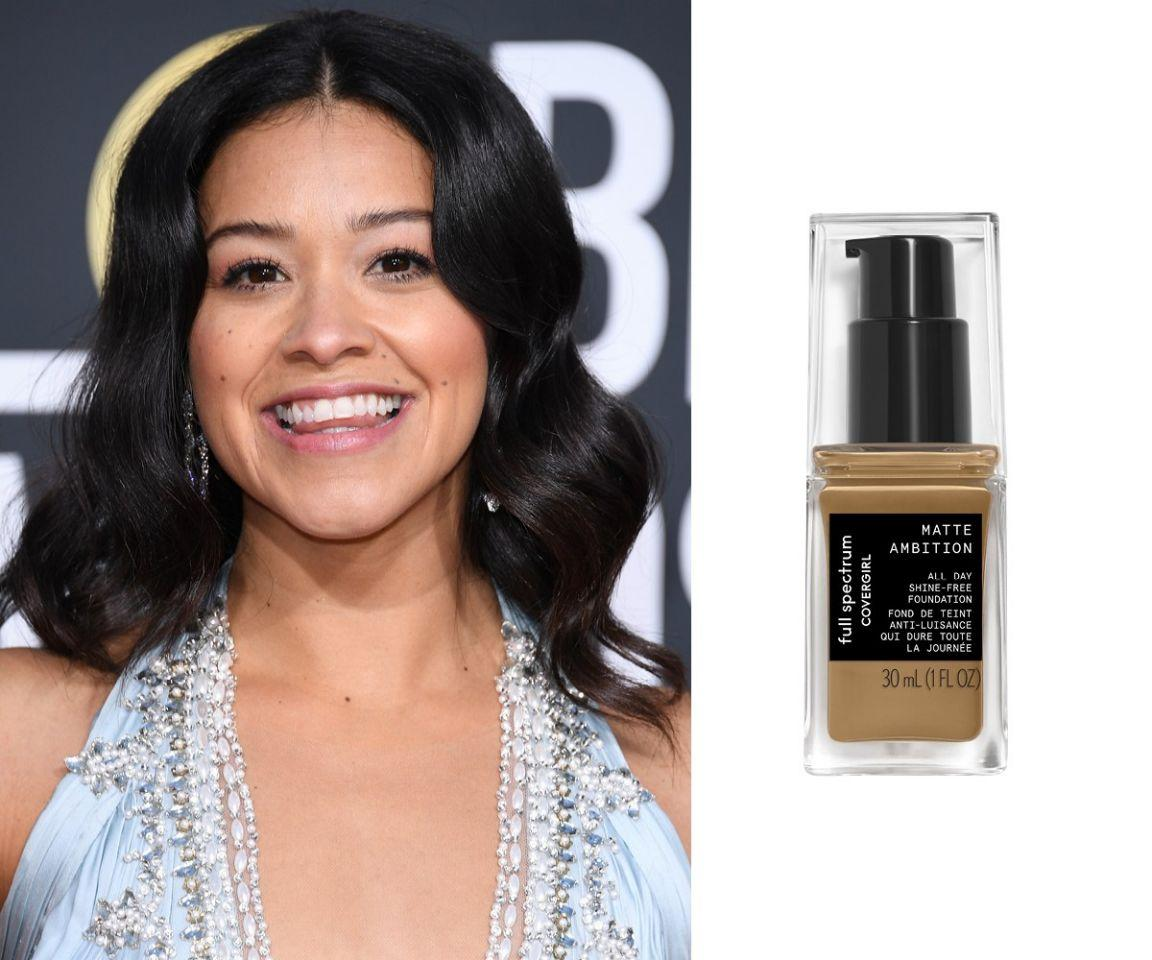 "<p>It's no surprise this long-wear shade ended up on Gina Rodriguez. It's from CoverGirl's new collection that's catered specifically to women of colour (in total, the line carries 20 medium-to-deep shades in a range of undertones). What is surprising how well it held up through bright red carpet lights and backstage champagne toasts. She literally looked flawless all night.<br /><strong>SHOP IT: <a rel=""nofollow"" href=""https://fave.co/2VzYrLh"">Ulta, $16</a></strong> </p>"