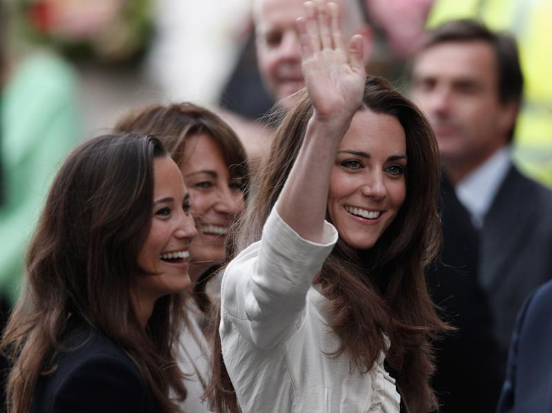 Kate Middleton with mum Carole and sister Pippa