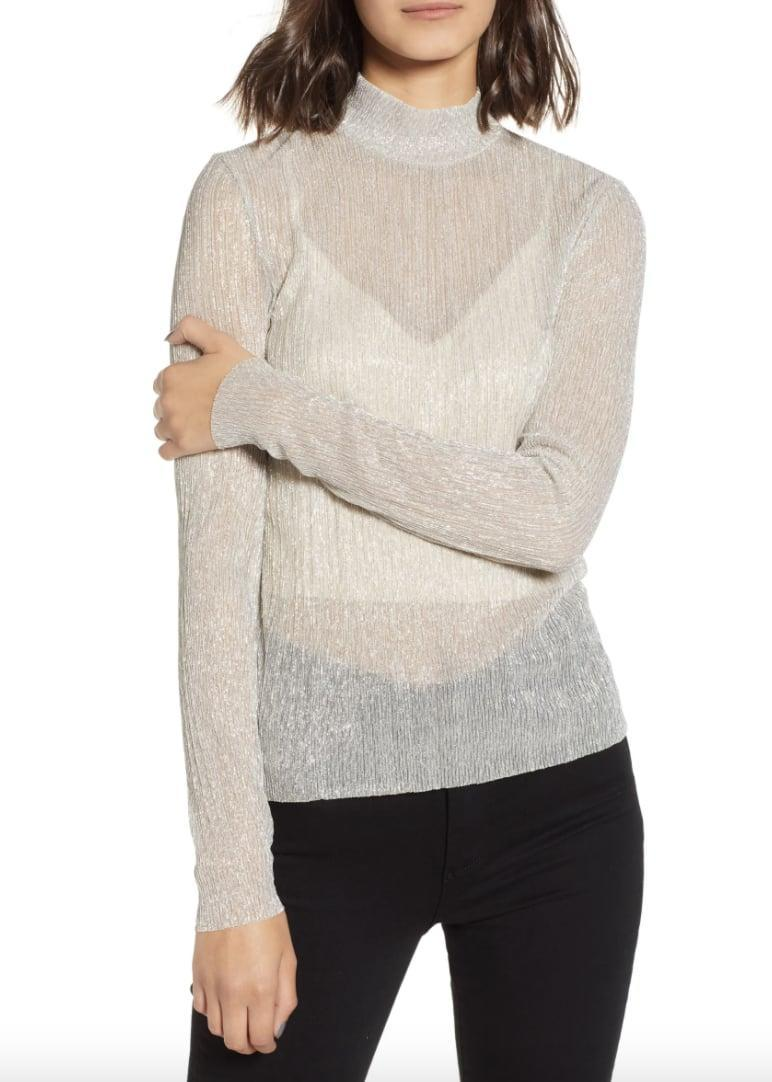 <p>This <span>Chelsea28 Metallic Turtleneck Sweater</span> ($25, originally $59) looks so festive, wear it on the next Zoom happy hour.</p>
