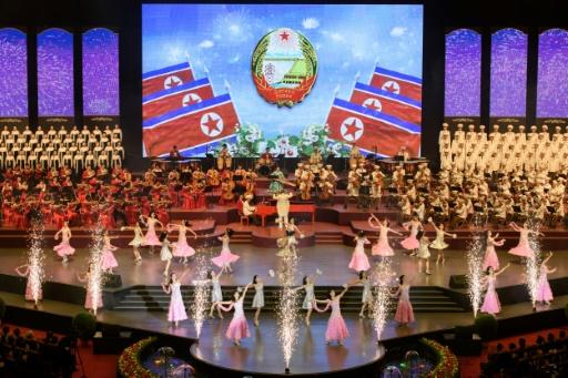 The celebrations began with a concert at Pyongyang Indoor StadiumMore
