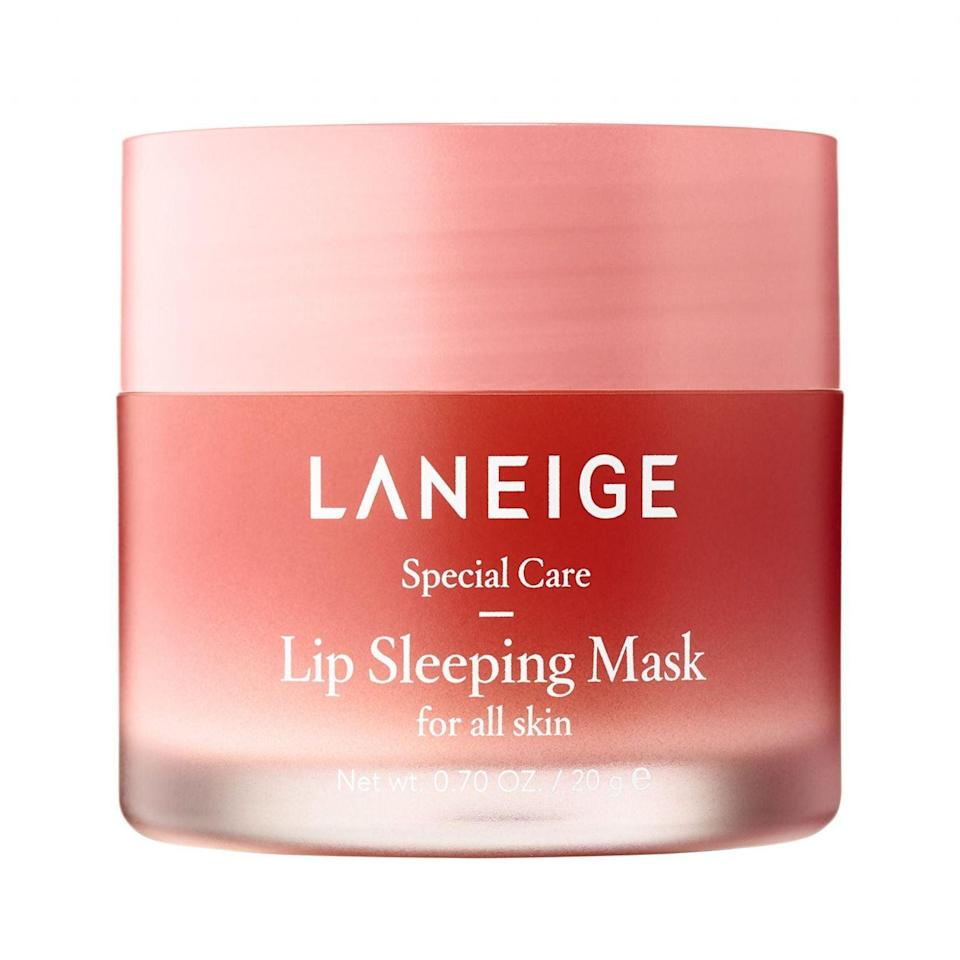 """<h3>Laneige Lip Sleeping Mask</h3><br>Like a balm with superpowers, this thick mask is packed with hyaluronic acid and vitamin C, so you'll wake up with the softest, smoothest, plumpest lips ever.<br><br><strong>Laneige</strong> Lip Sleeping Mask, $, available at <a href=""""https://go.skimresources.com/?id=30283X879131&url=https%3A%2F%2Fwww.sephora.com%2Fproduct%2Flip-sleeping-mask-P420652%3Ficid2%3Dproducts%2520grid%3Ap420652%3Aproduct"""" rel=""""nofollow noopener"""" target=""""_blank"""" data-ylk=""""slk:Sephora"""" class=""""link rapid-noclick-resp"""">Sephora</a>"""