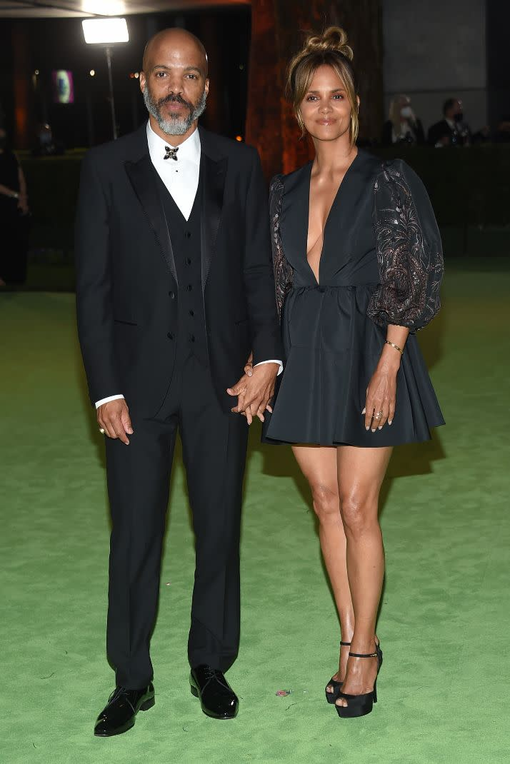 Halle Berry and Van Hunt at the Academy Museum of Motion Pictures opening Gala honoring Haile Gerima and Sophia Loren on Sept. 25, 2021, in Los Angeles. - Credit: O'Connor/AFF-USA.com/MEGA