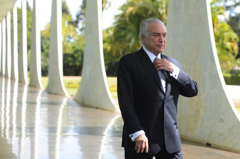 Brazilian President Michel Temer, seen at Alvorado Palace in 2016, said,