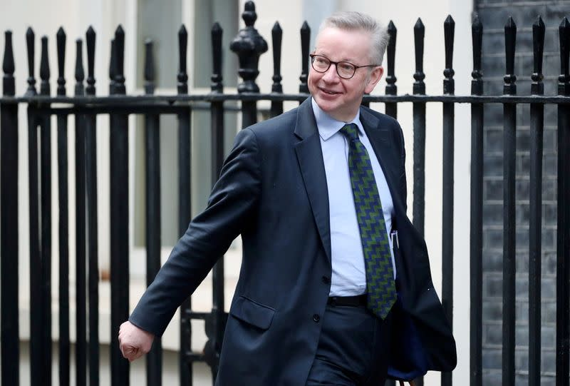 UK's Gove defends PM's adviser Cummings: he's a man of honour and integrity