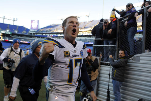 Los Angeles Chargers quarterback Philip Rivers hasn't been to the AFC championship game in 11 years. (AP)