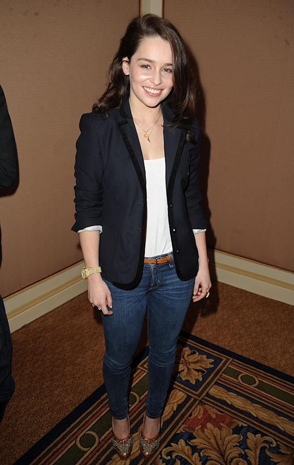 Emilia Clarke attends the HBO Winter 2011 TCA Panel held at the Langham Hotel on January 7, 2011 in Pasadena, California.