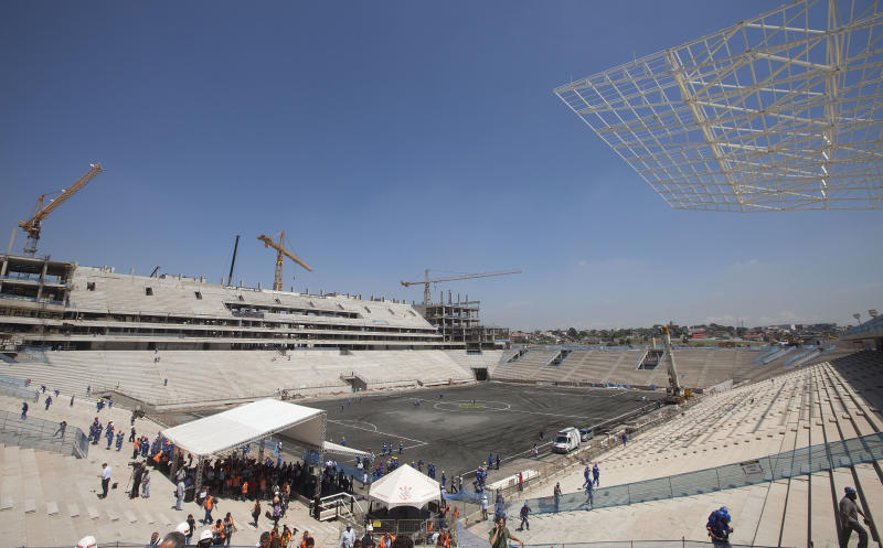 FIFA concerned with problems at Sao Paulo stadium