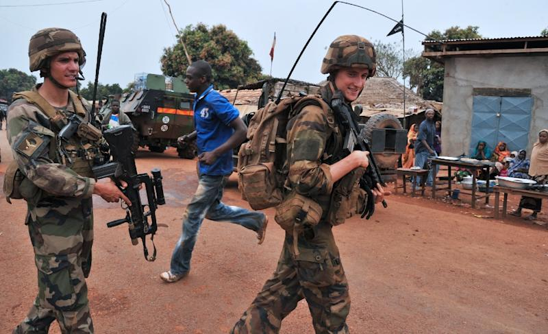French soldiers patrol Yaloke in 2014 as part of the 'Operation Sangaris' peacekeeping mission to the Central Africa Republic (AFP Photo/Issouf Sanogo)