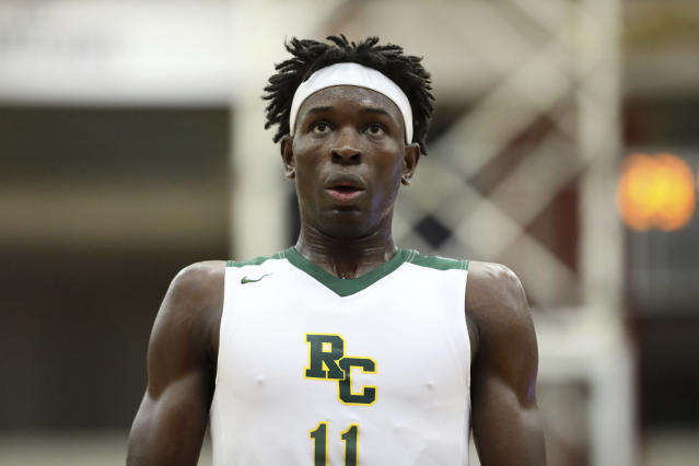 Roselle Catholic's Cliff Omoruyi #11 is seen against Norcross during a high school basketball game at the Hoophall Classic, Saturday, January 19, 2019, in Springfield, MA. (AP Photo/Gregory Payan)