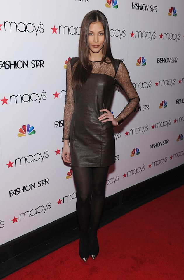 """Model Dayana Mendoza attends the """"<a target=""""_blank"""" href=""""http://tv.yahoo.com/fashion-star/show/47285"""">Fashion Star</a>"""" celebration at Macy's Herald Square on March 13, 2012 in New York City."""