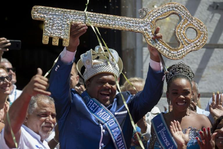 Rio's carnival king, known as Rei Momo, was given the symbolic key to the city, formally kicking off perhaps the world's grandest, wildest party