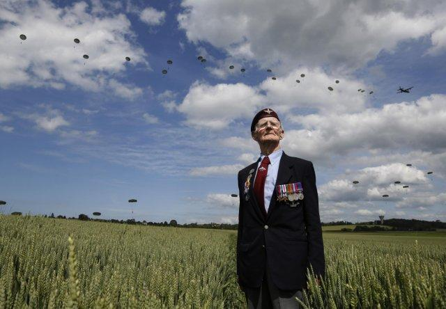 D-Day Veterans Parachute in Again for 70th Anniversary