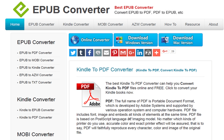 How to convert a Kindle book to PDF