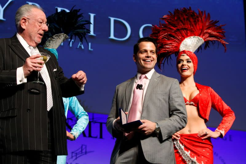 FILE PHOTO: Scaramucci, managing partner of Skybridge Capital, receives the key to the city from former Las Vegas Mayor Goodman in Las Vegas