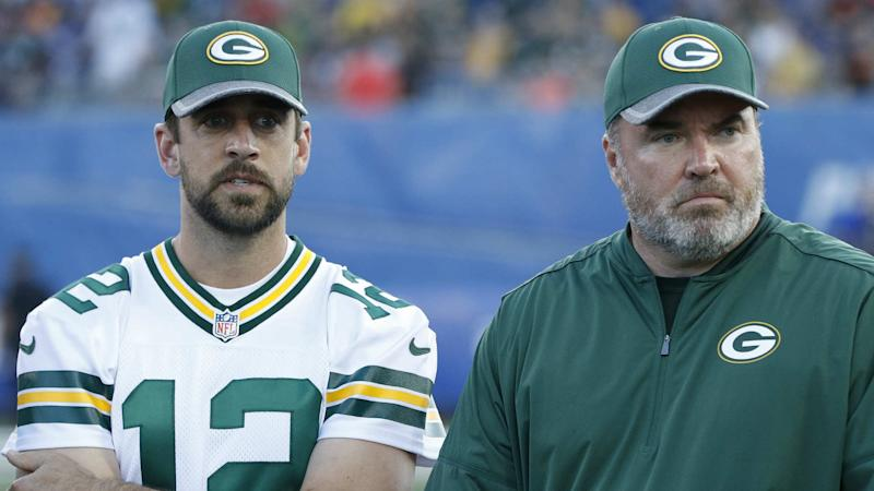 Aaron Rodgers denies rift with Mike McCarthy: 'We have a great relationship'
