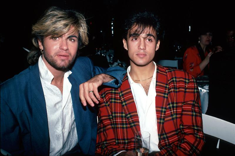 Members of pop group Wham! (L-R): George Michael and Andrew Ridgeley. (Photo by Ann Clifford/DMI/The LIFE Picture Collection via Getty Images)