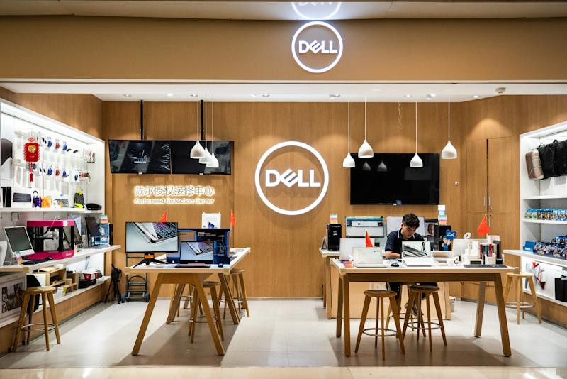 SHENZHEN, GUANGDONG, CHINA - 2019/10/06: American multinational computer technology company, Dell store and logo seen in Shenzhen. (Photo by Alex Tai/SOPA Images/LightRocket via Getty Images)