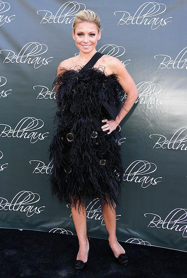 "Kelly Ripa rarely falters on the red carpet, but this disheveled dud looks like something Betty Rubble would have worn to a black tie event. Tana Lee Alves/<a href=""http://www.wireimage.com"" target=""new"">WireImage.com</a> - May 24, 2008"