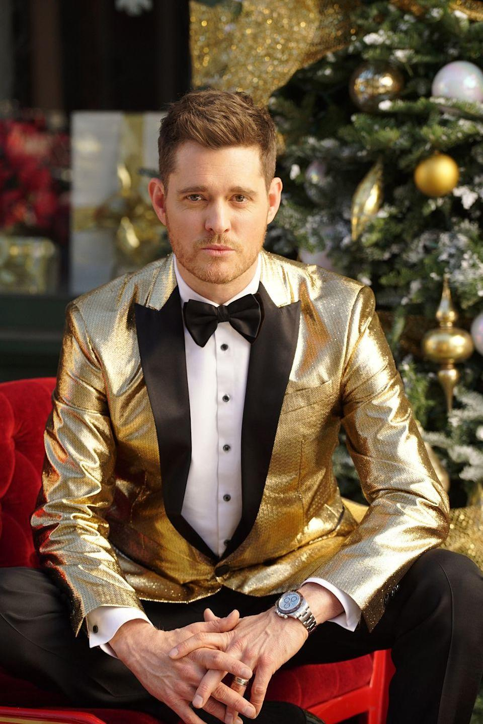 """<p>Full disclosure, just about any Christmas song by Michael Bublé could make this list because of his soothing voice. </p><p><a class=""""link rapid-noclick-resp"""" href=""""https://www.amazon.com/Its-Beginning-Look-Like-Christmas/dp/B005UA0FTQ/?tag=syn-yahoo-20&ascsubtag=%5Bartid%7C10055.g.2680%5Bsrc%7Cyahoo-us"""" rel=""""nofollow noopener"""" target=""""_blank"""" data-ylk=""""slk:AMAZON"""">AMAZON</a> <a class=""""link rapid-noclick-resp"""" href=""""https://go.redirectingat.com?id=74968X1596630&url=https%3A%2F%2Fitunes.apple.com%2Fus%2Falbum%2Fits-beginning-to-look-a-lot-like-christmas%2F669854820&sref=https%3A%2F%2Fwww.goodhousekeeping.com%2Fholidays%2Fchristmas-ideas%2Fg2680%2Fchristmas-songs%2F"""" rel=""""nofollow noopener"""" target=""""_blank"""" data-ylk=""""slk:ITUNES"""">ITUNES</a></p>"""