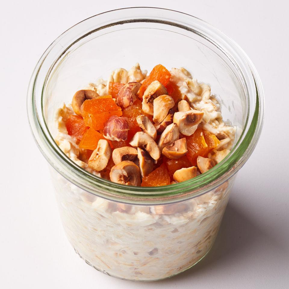 """<p>Make mornings a little easier when you soak oats overnight for a quick and easy breakfast. <a href=""""http://www.eatingwell.com/recipe/259646/coconut-overnight-oatmeal/"""" rel=""""nofollow noopener"""" target=""""_blank"""" data-ylk=""""slk:View recipe"""" class=""""link rapid-noclick-resp""""> View recipe </a></p>"""
