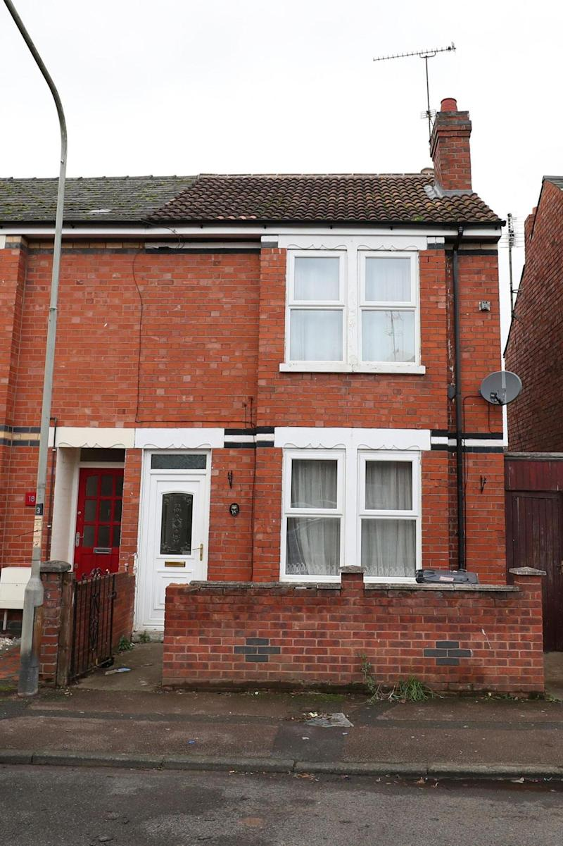 The multi-millionaire's current home in Calton Road, Gloucester. (PA)