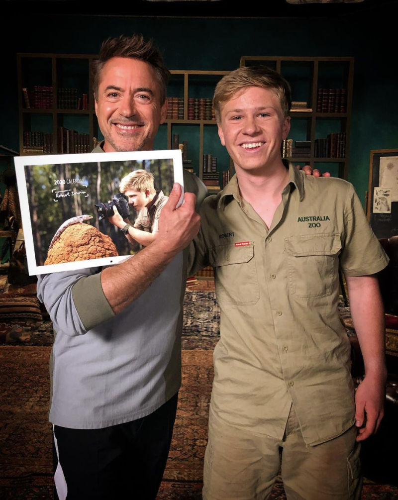 "Robert Downey Jr. and Robert Irwin talked about animals and the first time they met on Australia's ""Today."" (Photo: Robert Downey Jr. via Instagram)"