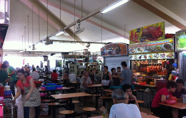 You can get a healthy meal at food centres. (Yahoo! photo)ac
