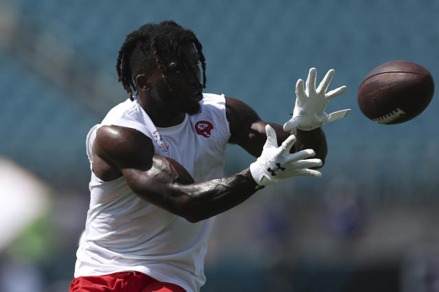 Chiefs wide receiver Tyreek Hill will be active on Sunday for the first time since Week 1. (AP Photo/Perry Knotts)