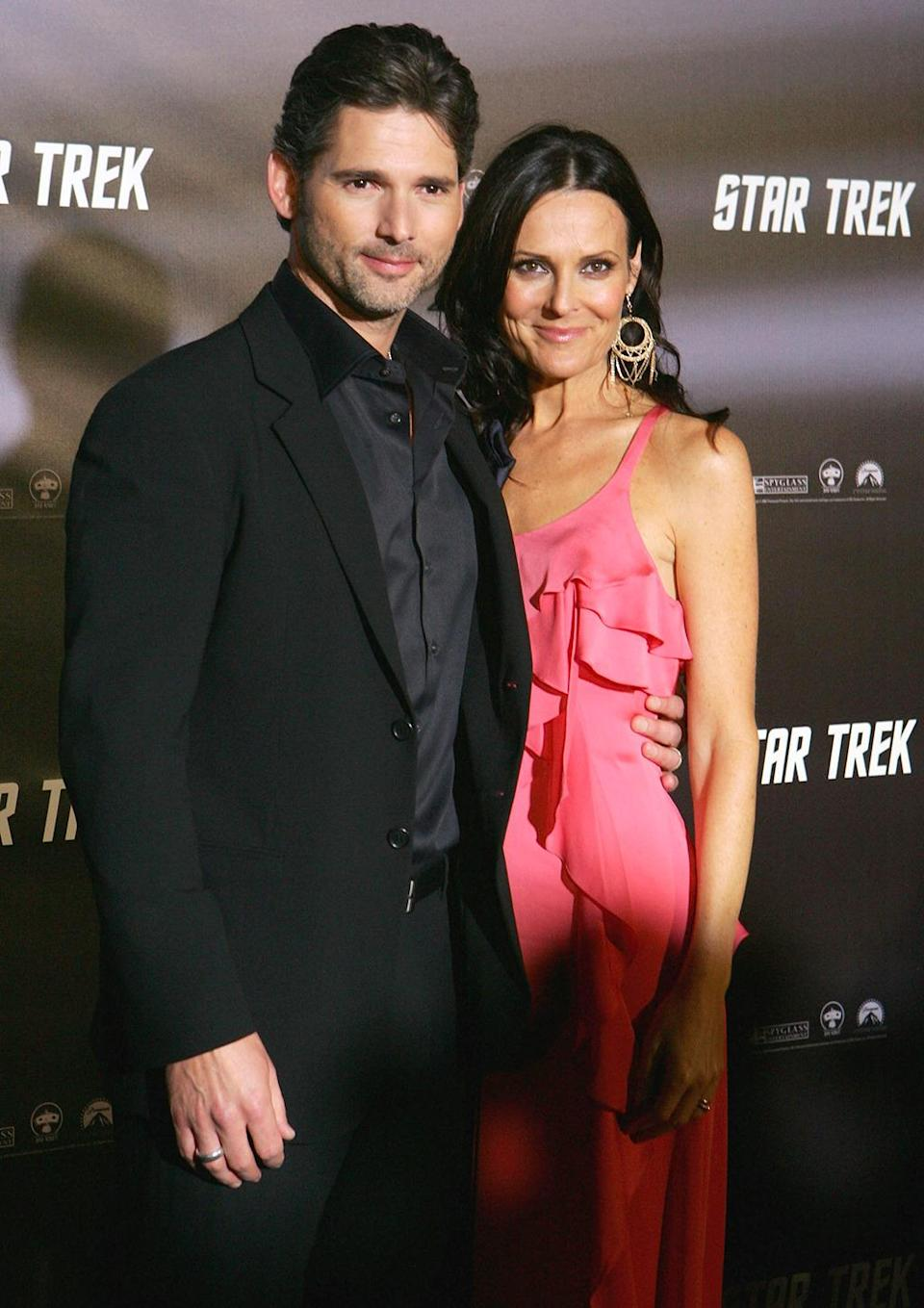 <p>Eric Bana with wife Rebecca Gleeson. Bana stars in the reboot as the Romulan, the Enterprise crew's time-traveling antagonist. <i>(Photo: Sergio Dionisio/Getty Images)</i></p>