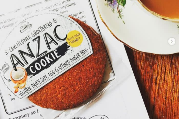 A Sydney health food business said they had no idea their vegan ANZAC cookies may not have the correct permission. Source: Instagram