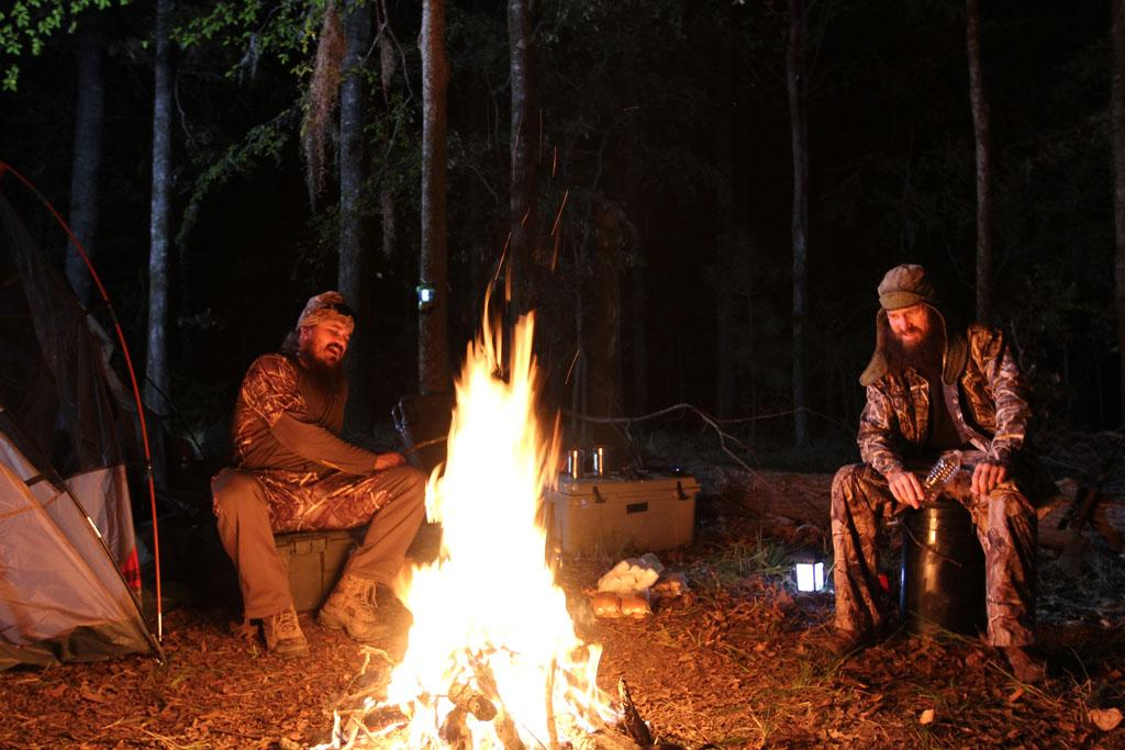 "Justin Martin and Jase Robertson in ""Duck Dynasty"" Season 3."
