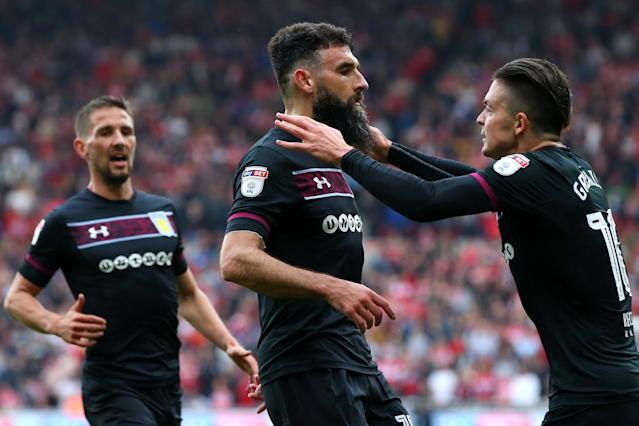 Advantage Aston Villa after Mile Jedinak goal seals first leg Play-Off victory at Middlesbrough