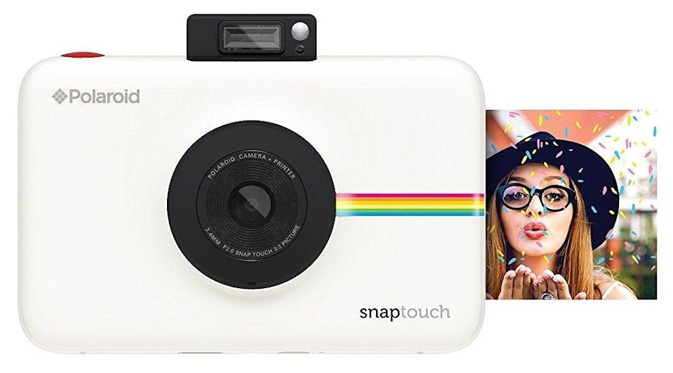 "<p>This <a rel=""nofollow noopener"" href=""https://www.popsugar.com/buy/Polaroid%20Snap%20Touch%20Instant%20Print%20Digital%20Camera-6337?p_name=Polaroid%20Snap%20Touch%20Instant%20Print%20Digital%20Camera&retailer=amazon.com&price=179&evar1=moms%3Aus&evar9=42686901&evar98=https%3A%2F%2Fwww.popsugar.com%2Fmoms%2Fphoto-gallery%2F42686901%2Fimage%2F42871636%2FPolaroid-Snap-Touch-Instant-Print-Digital-Camera&list1=holiday%2Cgift%20guide%2Cparenting%20gift%20guide%2Ckid%20shopping%2Choliday%20living%2Ctweens%20and%20teens%2Choliday%20for%20kids&prop13=mobile&pdata=1"" target=""_blank"" data-ylk=""slk:Polaroid Snap Touch Instant Print Digital Camera"" class=""link rapid-noclick-resp"">Polaroid Snap Touch Instant Print Digital Camera</a> ($179) can work with your tween's smartphone over Bluetooth.</p>"