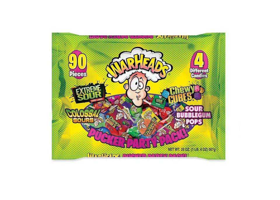 <p>Having started in Taiwan, Warheads made it to the US in 1993. For those who thought Sour Patch Kids and Gushers were sour, they had NO idea—just look at the guy on the package.</p>